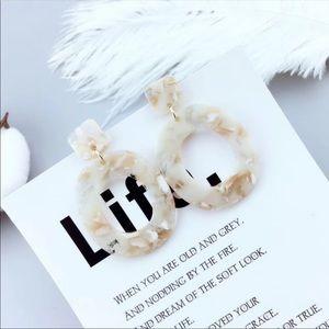 Jewelry - Acetate large drop earrings